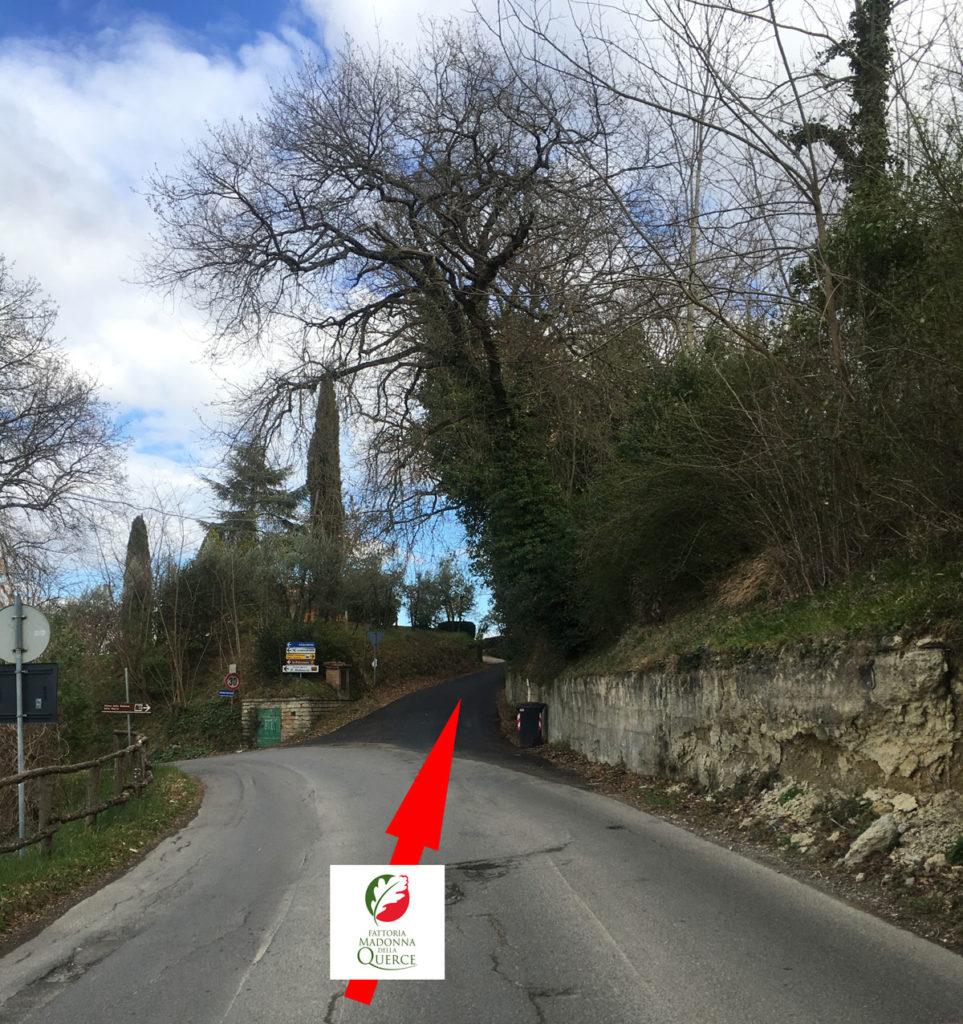 Bivio Via Antica Chiusina con Via Madonna della Querce